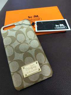 Brand New Coach iPhone mobile cover mono embossed