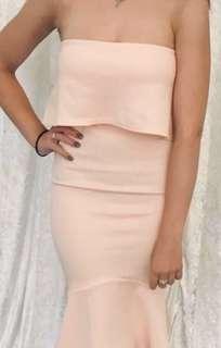 Light pink midi formal part dress