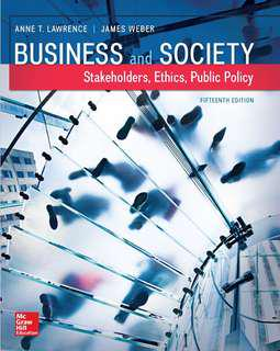 Lawrence, A.T. & Weber, J. (2017). Business & Society: Stakeholders, Ethics, Public Policy, 15th edition. SMU BGS e-Textbook