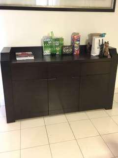 Sideboard with 3 compartments and 3 drawers