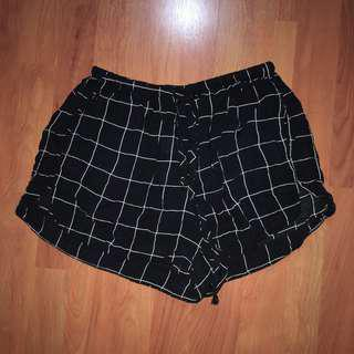 brandy melville black grid eve shorts