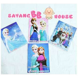 Frozen ella elsa Pokemon colouring & sticker book Kid play Children Colour Book