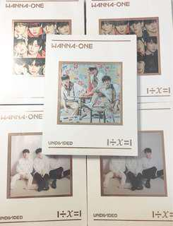 [Instock] SEALED Wanna One Undivided Albums - Everything except poster