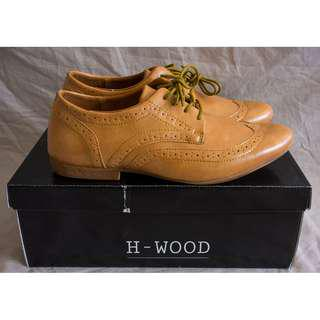 H-Wood Tan Brogues - Size UK7 *Brand New*