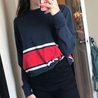 brandy melville acacia navy colourblock sweater