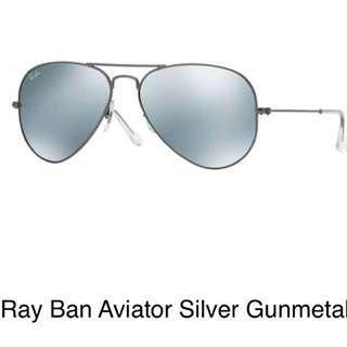 Ray-Ban Aviator Silver Gunmetal