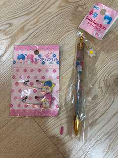 Twin star pin and pen