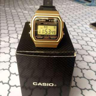 REPRICED! Casio F-91W Gold