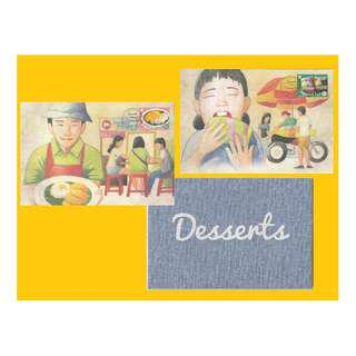 2016 Singapore-Thailand Joint Issue - Desserts Special cards CTO
