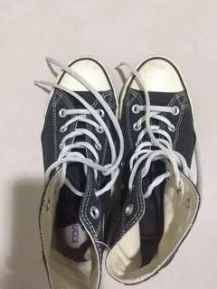 🚚 2⃣️✋🏻Converse高筒黑色基本款帆布鞋