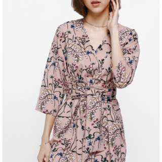 Love Bonito Adelson Floral Printed Sash Dress M