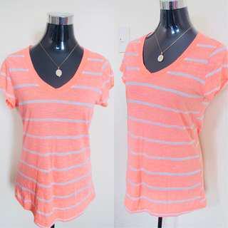 No Boundaries Orange Stripes Shirt