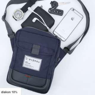 FLASHPACK SLING BAG (Biru Donker) - VISVAL