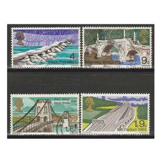 Great Britain 1968 Bridges set of 4V used (S1050)