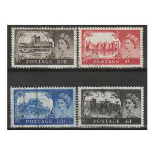 Great Britain 1967 Castles set of 4V Used, (S1051)