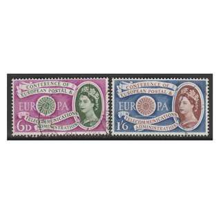 Great Britain 1961 Europa Stamps - 1st Anniversary of the establishment of CEPT set of 2V used (S1024)