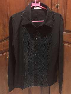 Black Long Shirt S