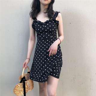 •PO• Polka dot fashion sleeveless dress