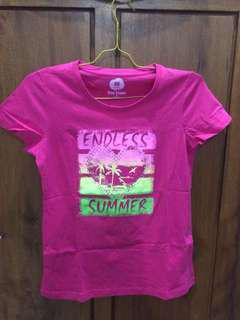 Tshirt Pink Bossini Endless Summer