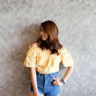 Chic Ruffled Off Shoulder