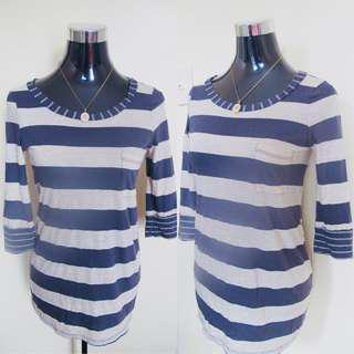 Stripes 3/4 Blouse