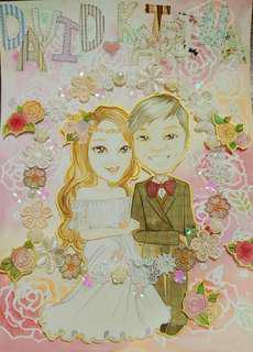 人物繪畫 結婚咭設計 生日咭設計
