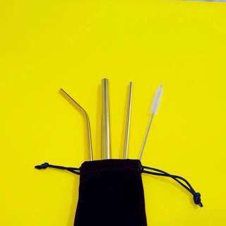 Gold Set Metal Straws