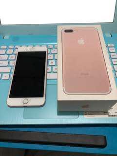 Iphone 7 plus 128 rose gold ex inter