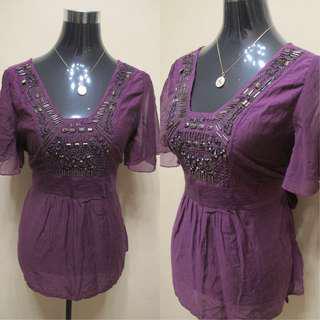 Violet Elegant Blouse