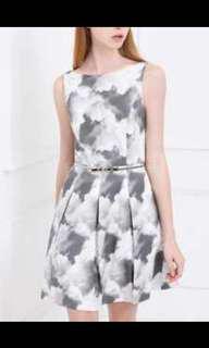 PRICE REDUCED Saturday Club Gatsby Dress in Cloud Print