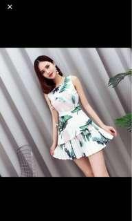 TCL Floral Pleated Hem dress
