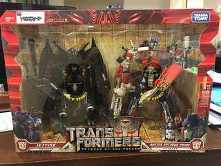 Transformers ROTF Buster Optimus Prime Jetfire Leader Set BNIB
