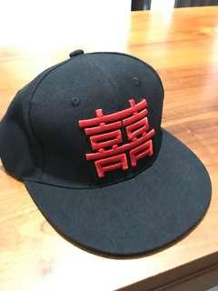 双喜 wedding cap