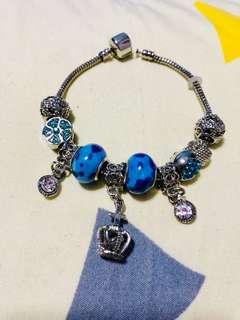 pandora-like charmed bracelet