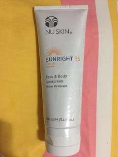 Nu Skin Sunright 防水防曬乳SPF35 PA+++