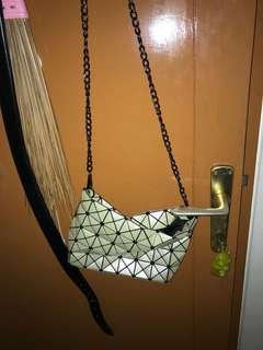 Bao bao Issey Miyake sling bag white
