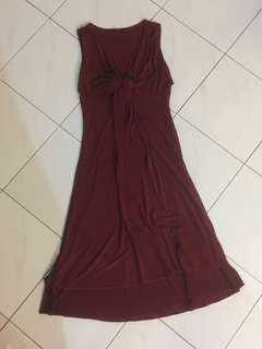ⓝⓔⓦ Maroon Red Dress