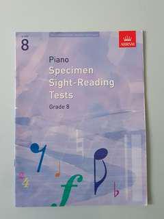 ABRSM Grade 8 Piano Specimen Sight-reading Tests