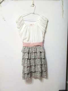 🚚 [售/換] 正韓 氣質雪紡蛋糕裙洋裝