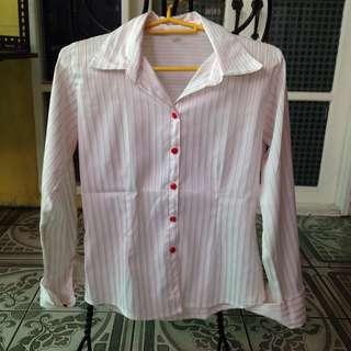 Red White Stripes Polo