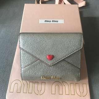 Miu miu heart envelope wallet