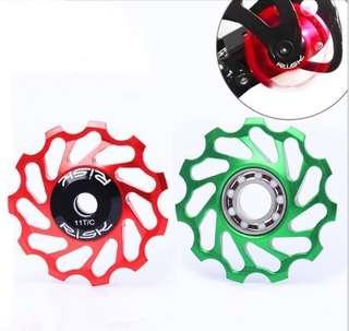 Risk Ceramic Bearing Jockey 11T Wheel for Rear Derailleur - Black
