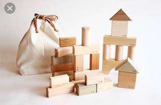 Japanese wooden block