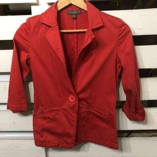 Authentic Plains and Prints blazer red orange