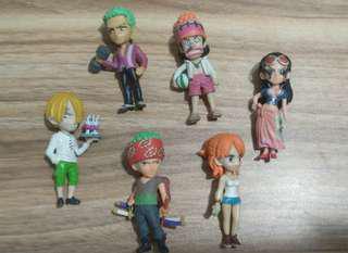 One piece action figure mini