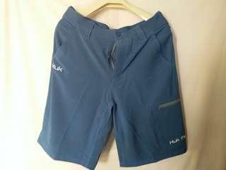全新Huk簡約休閑運動型男裝藍色短褲