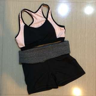 Sport Bra Short Pants H&M