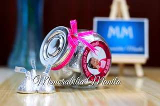 Slide jar with chocolates - giveaway, souvenir for birthdays, debut, wedding, party, etc