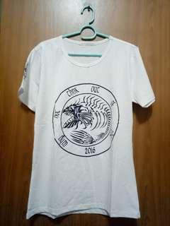 🚚 JIA魚骨圖案白色T-Shirt(白色)-全新未穿過