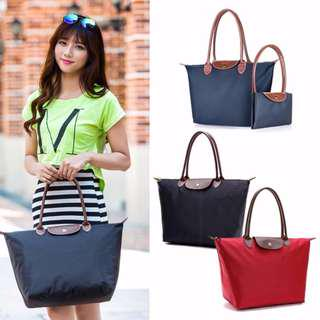 MAZE European Stylish Large Tote Bag Long Handle Handbag Style Waterproof Foldable